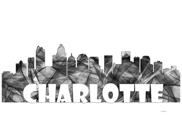 Charlotte Digital Art - Charlotte Nc Skyline by Marlene Watson