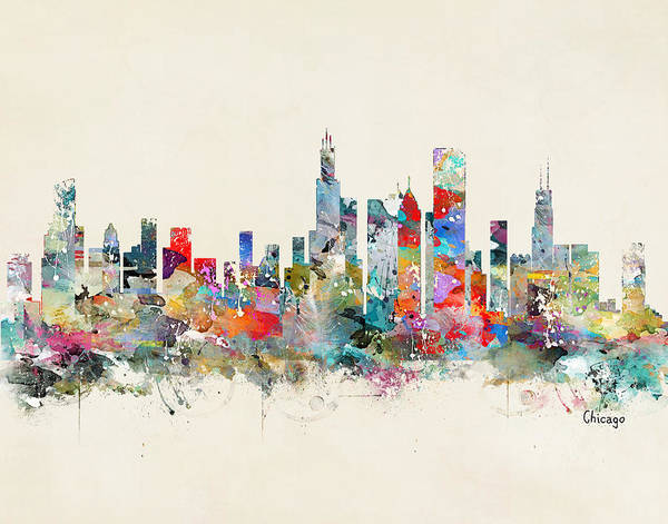 Chicago City Skyline Art Print
