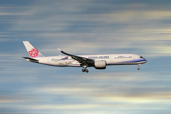 Aircraft Mixed Media - China Airlines Airbus A350-941 by Smart Aviation