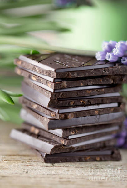 Dark Background Photograph - Chocolate by Nailia Schwarz