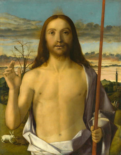Redeemer Wall Art - Painting - Christ Blessing by Giovanni Bellini