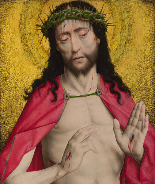 Redeemer Wall Art - Painting - Christ Crowned With Thorns by Dieric Bouts