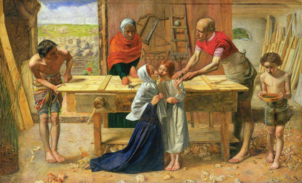 Everett Painting - Christ In The House Of His Parents by John Everett Millais