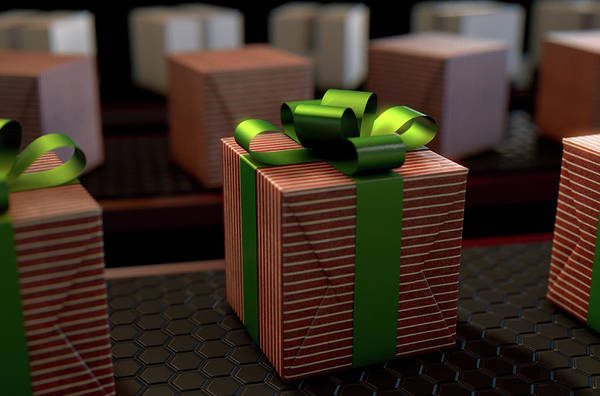 Manufacture Digital Art - Christmas Production Line by Allan Swart