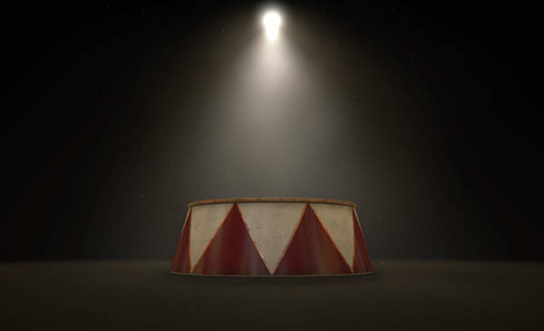 Cupola Digital Art - Circus Podium Spotlit by Allan Swart