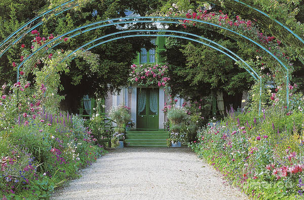 Giverny Photograph - Claude Monet's Garden At Giverny by French School