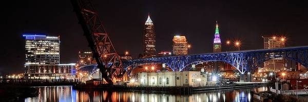 Metro Detroit Photograph - Cleveland Over The Cuyahoga by Frozen in Time Fine Art Photography
