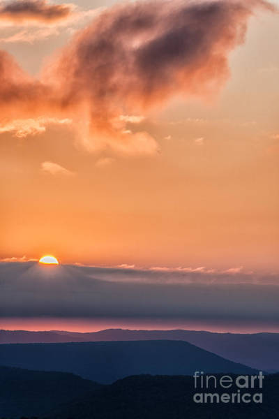 Highland Scenic Highway Wall Art - Photograph - Cloudy Mountain Sunrise by Thomas R Fletcher
