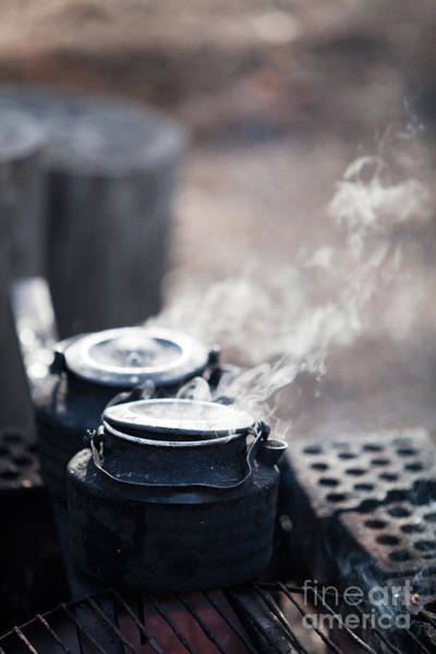Wall Art - Photograph - Coffee By The Campfire by Kati Finell