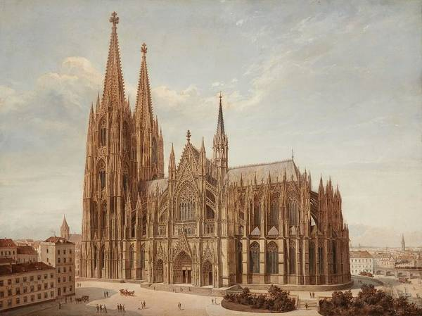 Wall Art - Painting - Cologne Cathedral by Josef Langl