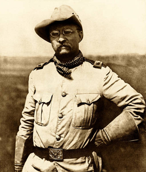Wall Art - Photograph - Colonel Theodore Roosevelt by War Is Hell Store