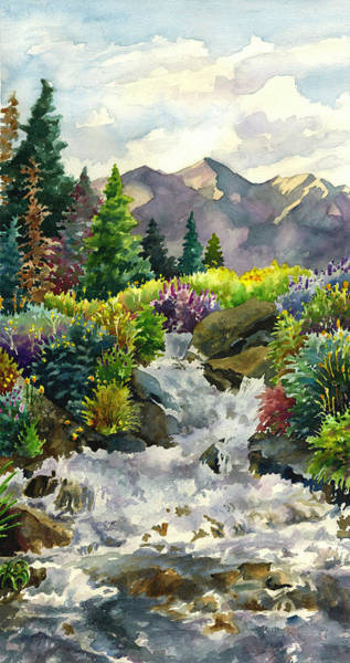 Painting - Colorado Waterfall by Anne Gifford