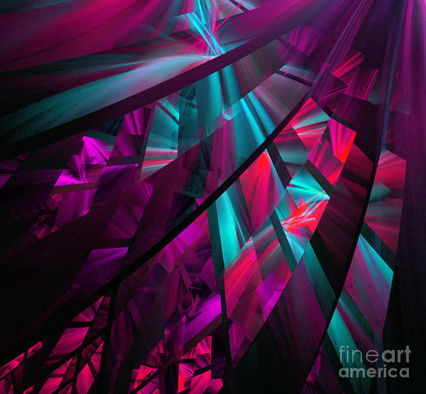 Digital Art - Colorful Abstract Figures by Odon Czintos