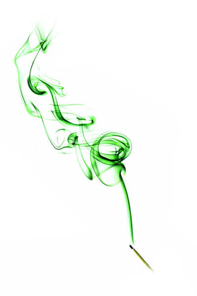 Photograph - Coloured Smoke - Green by Nick Bywater