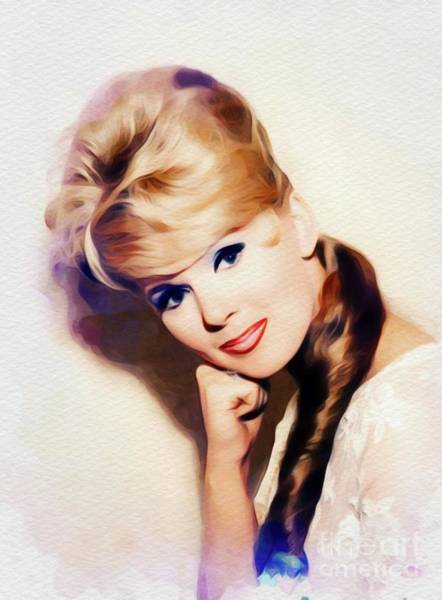 Steven Painting - Connie Stevens, Vintage Actress by John Springfield