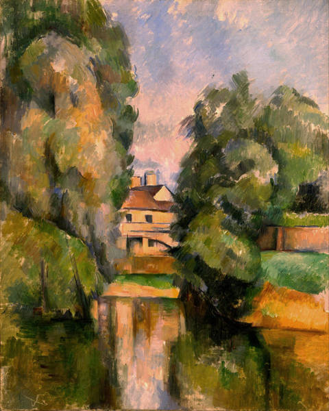 Painting - Country House By A River by Paul Cezanne