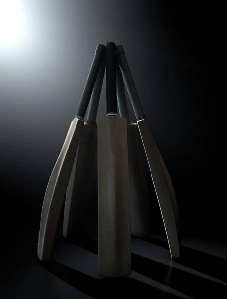 Paddle Digital Art - Cricket Back Circle Dramatic by Allan Swart