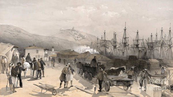 Drawing - Crimean War, Balaklava.  by Granger