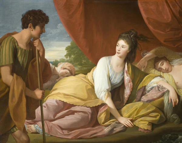 Painting - Cymon And Iphigenia by Benjamin West