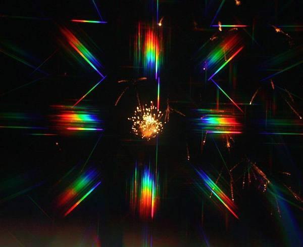 3-d Fireworks Art Print by JoAnn Tavani