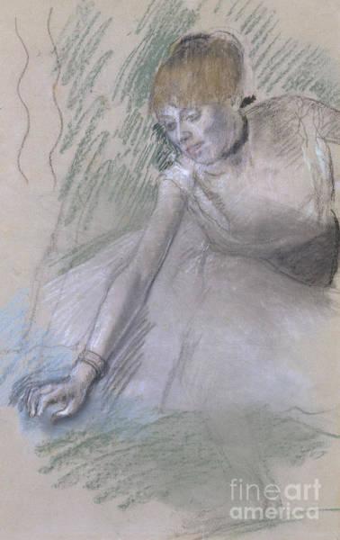 Reach Wall Art - Pastel - Dancer by Edgar Degas