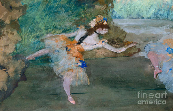 Wall Art - Painting - Dancer Onstage by Edgar Degas