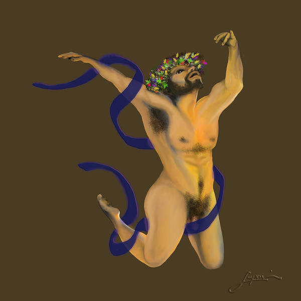 Digital Art - Dancing Naked In The Forest Dancer by Thomas Lupari