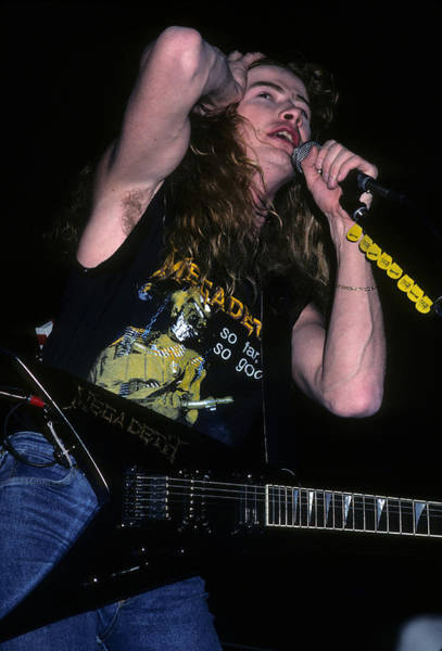 Photograph - Dave Mustaine Of Megadeth by Rich Fuscia