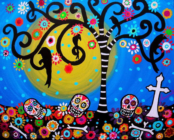 Prisarts Wall Art - Painting - Day Of The Dead by Pristine Cartera Turkus