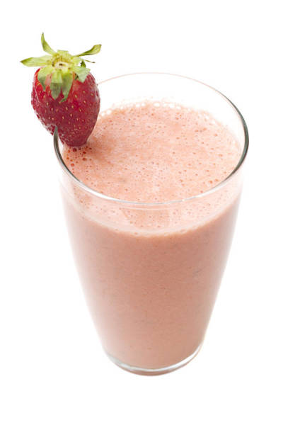 Milk Shake Photograph - Delicious Strawberry Smoothie by Donald Erickson