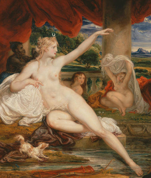 Ward Painting - Diana At The Bath by James Ward