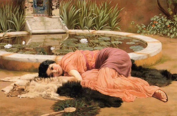 Wall Art - Painting - Dolce Far Niente by John William Godward