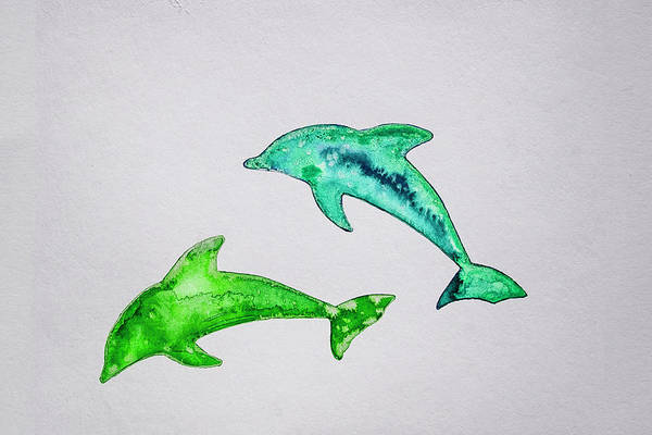 Endless Love Painting - Dolphins by Kristijan Kis