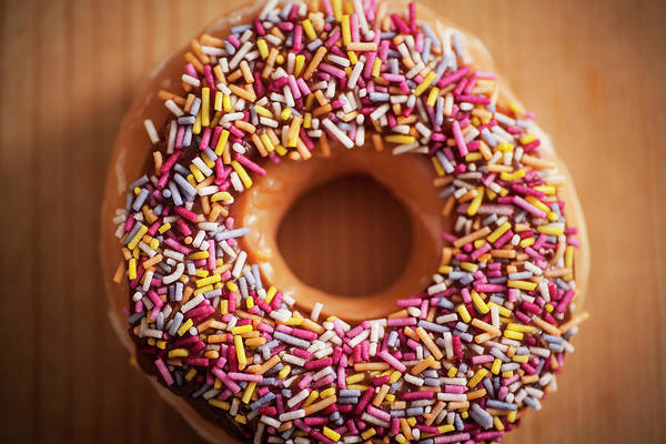 Wall Art - Photograph - Donut And Sprinkles by Samuel Whitton