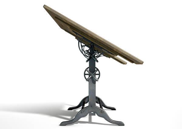 Engineer Digital Art - Drafting Table by Allan Swart