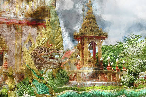 Photograph - Dragon At Wat Chalong In Phuket by Brandon Bourdages