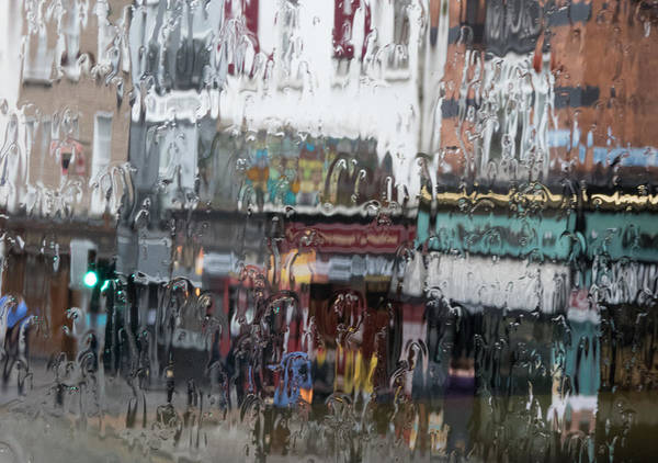 Dublin In The Rain. Art Print