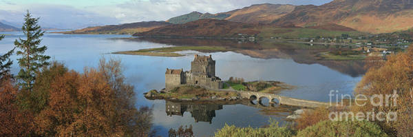 Photograph - Eilean Donan Castle - Panorama by Maria Gaellman