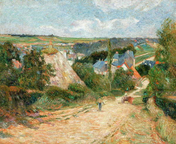 Wall Art - Painting - Entrance To The Village Of Osny by Paul Gauguin