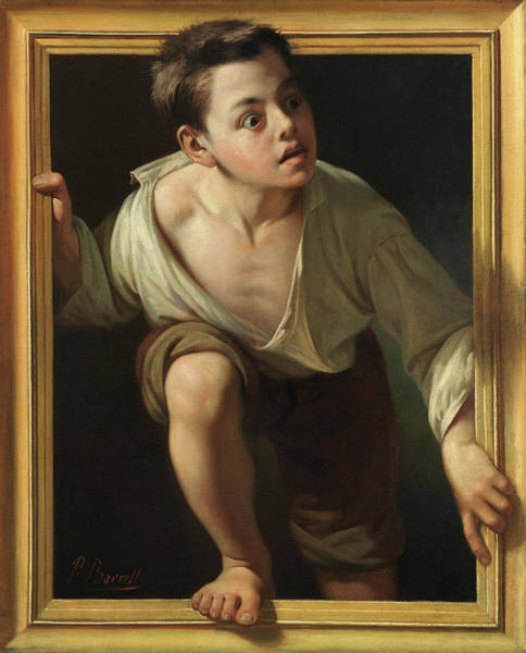 Wall Art - Painting - Escaping Criticism by Pere Borrell Del Caso