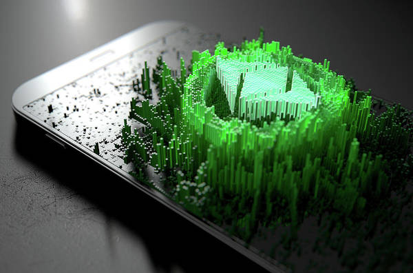 Wall Art - Digital Art - Ethereum Classic Cloner Smartphone by Allan Swart