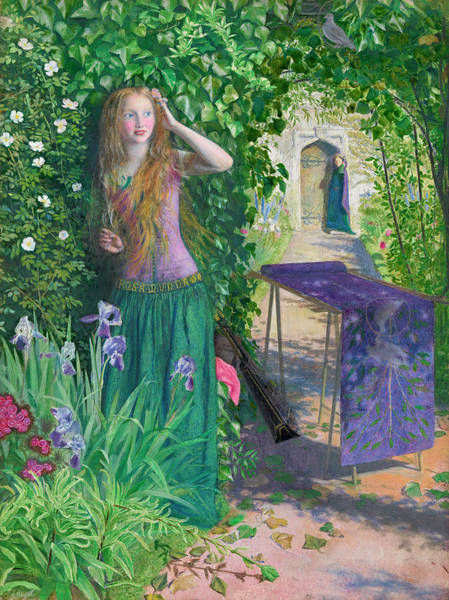 Pre-raphaelite Brotherhood Painting - Fair Rosamund by Arthur Hughes