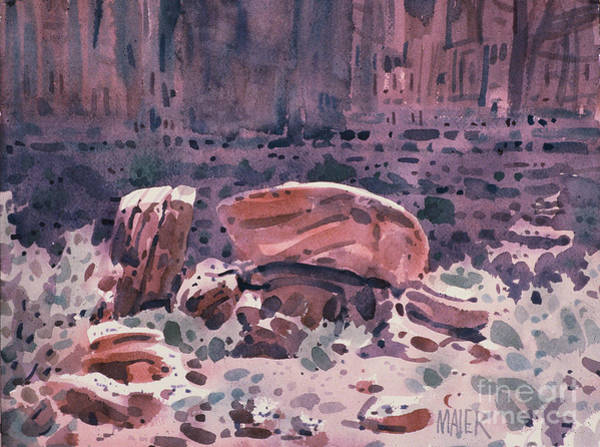 Monument Valley Painting - Fallen Rock by Donald Maier
