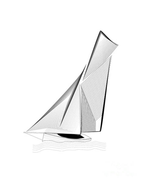 Digital Art - Falmouth Oyster Boat by Brian Roscorla
