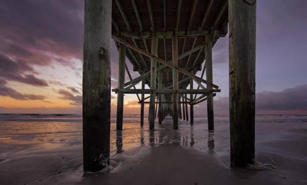 Photograph - Fernandina Beach Pier by Peter Lakomy