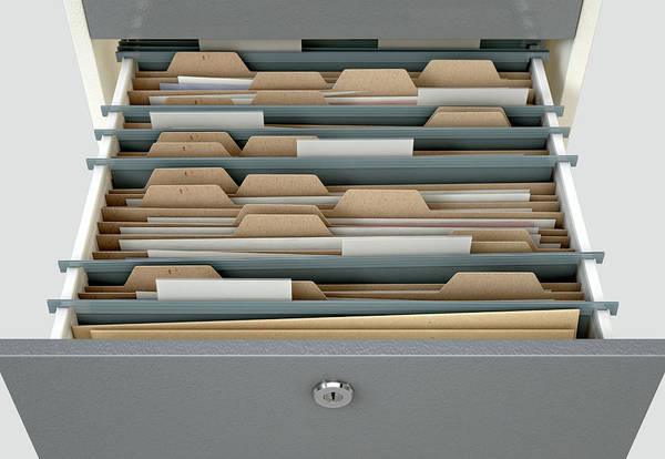 Wall Art - Digital Art - Filing Cabinet Drawer Open Generic by Allan Swart