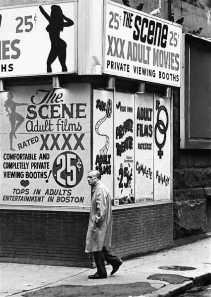 Film Homage Hard Core 1979 Porn Theater The Combat Zone Boston Massachusetts 1977 Art Print