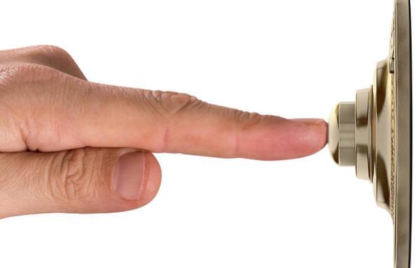 Wall Art - Digital Art - Finger Pressing Doorbell by Allan Swart