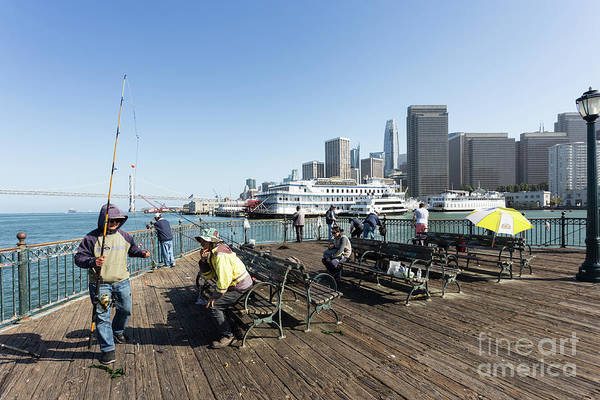 Photograph - Fisherman In San Francisco Embarcadero On A Sunny Day by Didier Marti