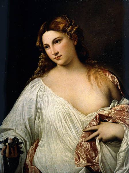 Painting - Flora by Titian